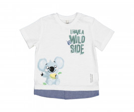 Детска тениска с къс ръкав Birba 24089-15A за момче, 9-30 м.
