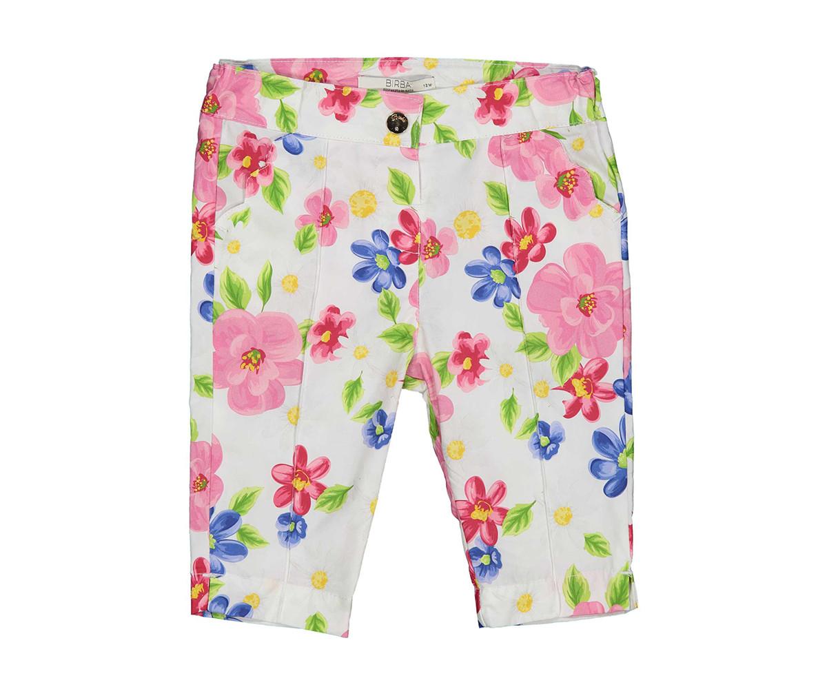 Детски панталон с флорален принт Бирба 22020-95Z, момиче, 6-30 м.