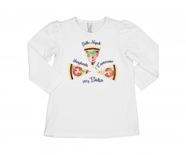 Детска блуза с дълъг ръкав Бирба 24060-15A, момиче, 6-30 м.