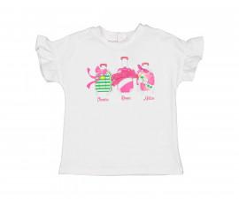 Детска блуза с къс ръкав Бирба 24073-15A, момиче, 6-30 м.