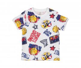 Детска тениска с къс ръкав Бирба 24082-93Z, момче, 6-30 м.