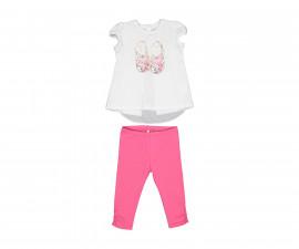 Детски комплект блуза с клин Бирба 29032-15A, момиче, 6-30 м.