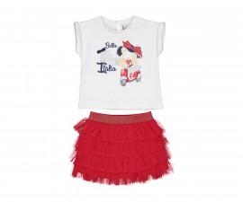 Детски комплект блуза с пола Бирба 29034-15A, момиче, 6-30 м.