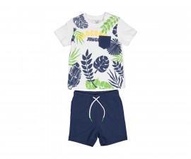 Детски комплект тениска с шорти Бирба 29042-15A, момче, 6-30 м.