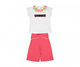 Детски комплект блуза с бермуди Бирба 29045-15A, момиче, 6-30 м.