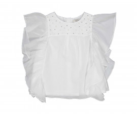 Детска блуза с волани Трибеонд 20492-10E, момиче, 3-12 г.