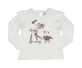 Детска блуза с дълъг ръкав Birba Love City 34047-10E за момиче, 6-30 м.