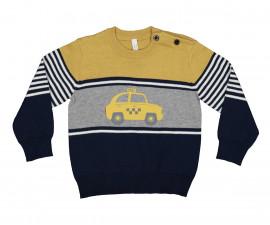 Детски пуловер райе Birba Taxi 36608-97Z за момче, 6-30 м.