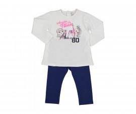Детски комплект блуза с панталон Birba Everyday Love Fitness 39020-10E за момиче, 6-30 м.