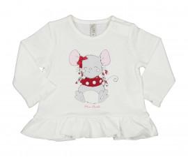 Детска блуза с дълъг ръкав Birba Natale 34022-10E, момиче, 3-12 м.