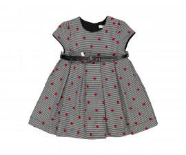 Детска рокля с къс ръкав с колан Birba Lovely Time 35315-90Z, 6-30 м.
