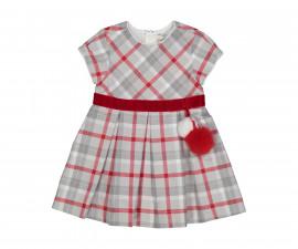 Детска рокля с къс ръкав с колан Birba Special Nigths 35318-95W, 6-30 м.
