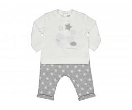 Детски комплект блуза с панталон Birba Stellina 39001-10E, момиче, 3-12 м.