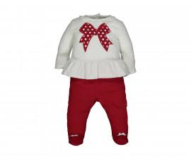 Детски комплект блуза с ританки Birba Natale 39016-10E, момиче, 3-12 м.
