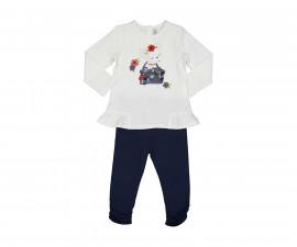 Детски комплект блуза с панталон Birba Love City 39030-10E, момиче, 6-30 м.