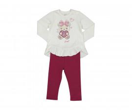 Детски комплект блуза с панталон Birba Stylish Girl 39032-10N, момиче, 6-30 м.