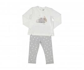 Детски комплект блуза с панталон Birba Perfect Day 39033-10E, момиче, 6-30 м.