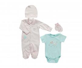бебешки комплект 4 части It's a Girl, марка Bebetto, фабр.№ Z680, момиче, 0-3 м.