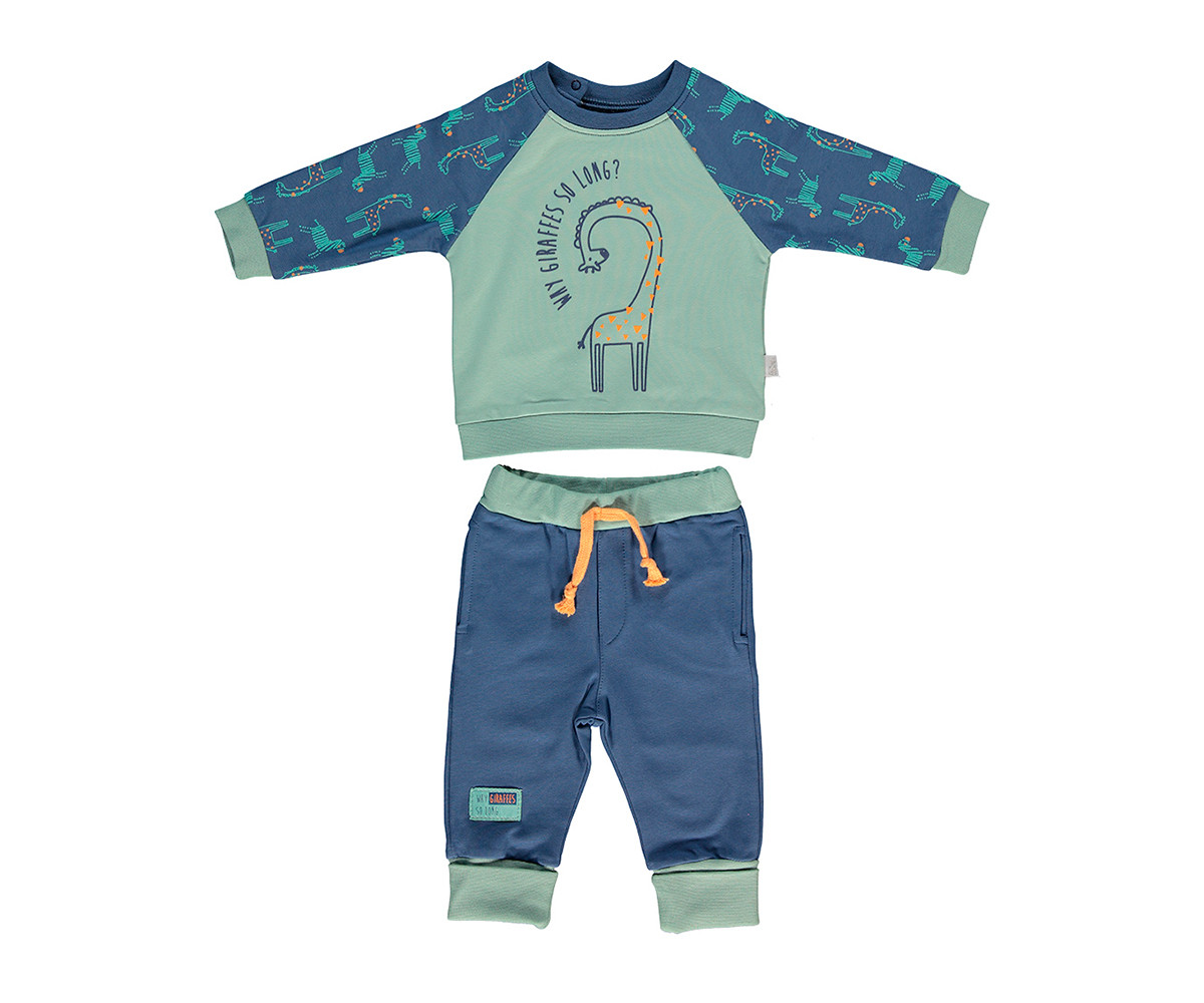 бебешки комплект блуза с панталон Zabra or Giraffe, марка Bebetto, фабр.№ K2697i, момче, 6-24 м.
