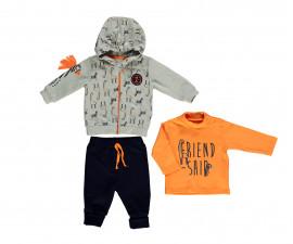 бебешки комплект суитшърт, блуза и панталон Zabra or Giraffe, марка Bebetto, фабр.№ K2699, момче, 6-24 м.