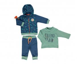 бебешки комплект суитшърт, блуза и панталон Zabra or Giraffe, марка Bebetto, фабр.№ K2699i, момче, 6-24 м.