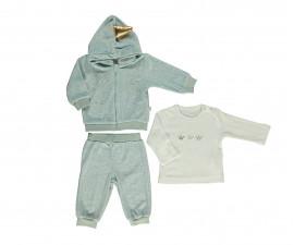 бебешки комплект суитшърт с качулка, блуза и панталон Family Love, марка Bebetto, фабр.№ K2782m, момиче, 3-18 м.