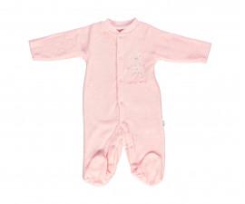 плюшен бебешки гащеризон с ританка Family Love, марка Bebetto, фабр.№ T2242p, момиче, 3-9 м.
