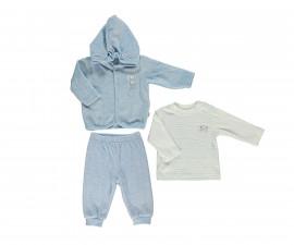 бебешки комплект плюшени суитшърт, блуза и панталон Space Mate, марка Bebetto, фабр.№ K2726, момче, 3-18 м.
