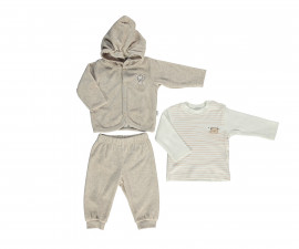 бебешки комплект плюшени суитшърт, блуза и панталон Space Mate, марка Bebetto, фабр.№ K2726b, момче, 3-18 м.