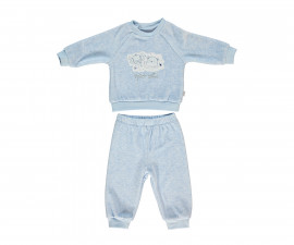 бебешки комплект плюшени блуза и панталон Space Mate, марка Bebetto, фабр.№ K2728, момче, 3-18 м.