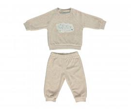 бебешки комплект плюшени блуза и панталон Space Mate, марка Bebetto, фабр.№ K2728b, момче, 3-18 м.