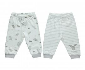 памучни бебешки панталони Free Animal, марка Bebetto, фабр.№ T2137, унисекс, 3-18 м., 2 бр.