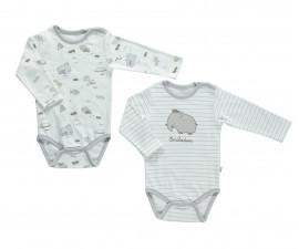 бебешко боди с дълъг ръкав Free Animal, марка Bebetto, фабр.№ T2140, унисекс, 12-36 м., 2 бр.