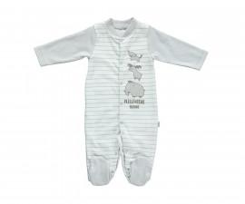 бебешки гащеризон с ританка Free Animal, марка Bebetto, фабр.№ T2141, унисекс, 0-9 м.