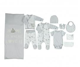 бебешки комплект 10 части Free Animal, марка Bebetto, фабр.№ Z673, унисекс, 0-3 м.