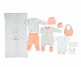 бебешки комплект 10 части Happy Cloud, марка Bebetto, фабр.№ Z686, момиче, 0-3 м.