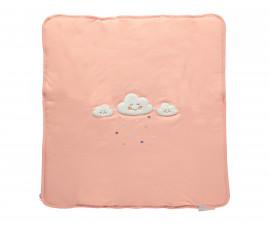 памучно подплатено бебешко одеяло Happy Cloud, марка Bebetto, фабр.№ B666, момиче, 80 х 85 см.
