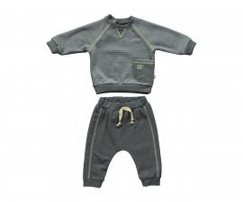 бебешки комплект блуза с панталон Good Luck, марка Bebetto, фабр.№ K2798, момче, 3-24 м.