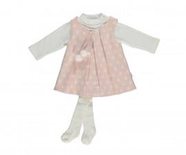 бебешки комплект рокля, блуза и чорапогащник Baby Bunny, марка Bebetto, фабр.№ K2754, момиче, 6-24 м.