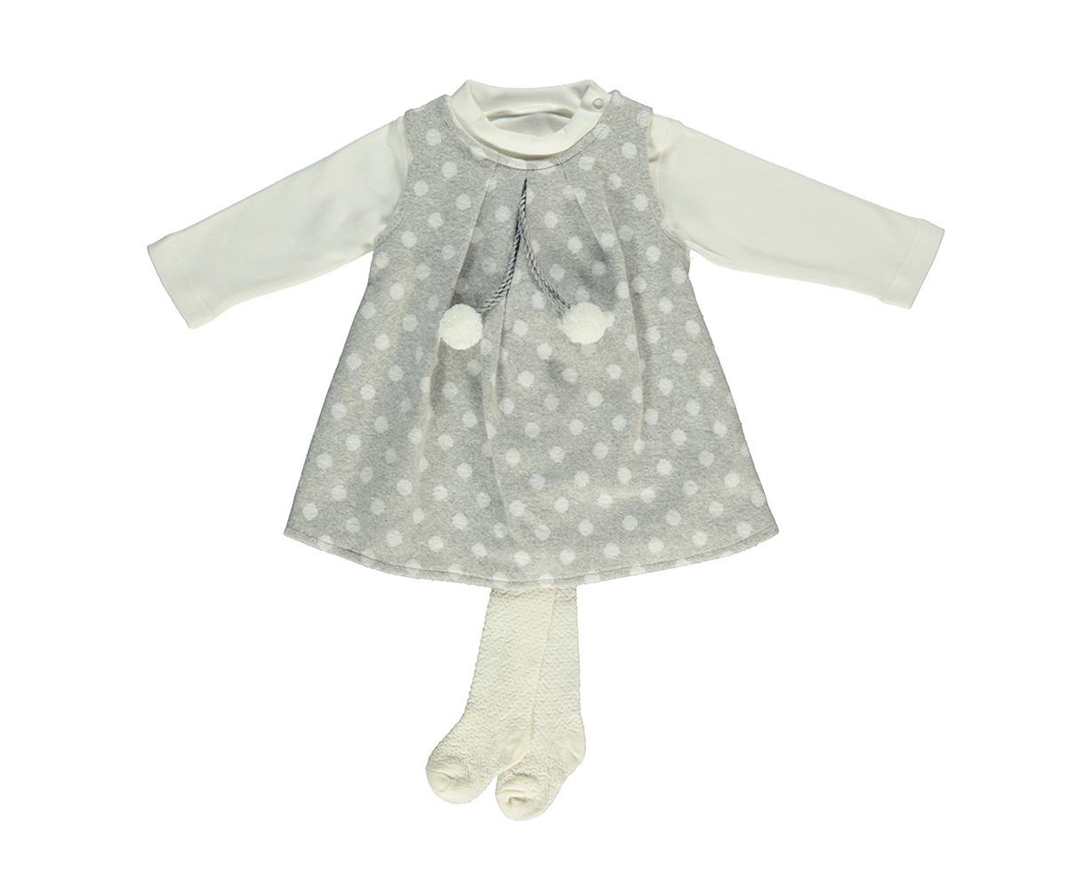бебешки комплект рокля, блуза и чорапогащник Baby Bunny, марка Bebetto, фабр.№ K2754g, момиче, 6-24 м.