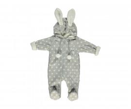 ватиран бебешки гащеризон с качулка и цип Baby Bunny, марка Bebetto, фабр.№ K2755g, момиче, 3-9 м.