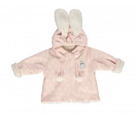 ватирано бебешко палто с качулка и цип Baby Bunny, марка Bebetto, фабр.№ K2758, момиче, 6-12 м.