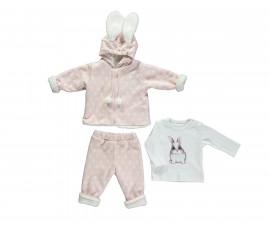 бебешки комплект ватирани суитшърт, панталон и блуза Baby Bunny, марка Bebetto, фабр.№ K2756, момиче, 3-18 м.