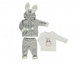 бебешки комплект ватирани суитшърт, панталон и блуза Baby Bunny, марка Bebetto, фабр.№ K2756g, момиче, 3-18 м.