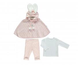 бебешки комплект пончо, блуза и панталон Baby Bunny, марка Bebetto, фабр.№ K2759, момиче, 6-24 м.