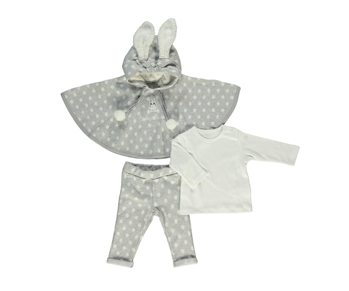 бебешки комплект пончо, блуза и панталон Baby Bunny, марка Bebetto, фабр.№ K2759g, момиче, 6-24 м.