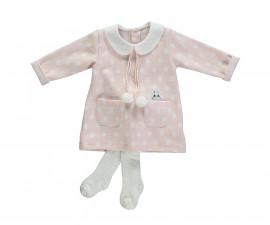 бебешки комплект рокля с чорапогащник Baby Bunny, марка Bebetto, фабр.№ K2757, момиче, 6-24 м.