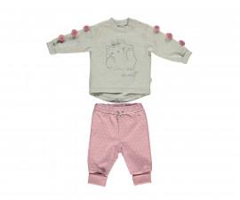 бебешки комплект блуза с панталон So Sweety, марка Bebetto, фабр.№ K2695, момиче, 6-24 м.