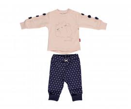 бебешки комплект блуза с панталон So Sweety, марка Bebetto, фабр.№ K2695b, момиче, 6-24 м.