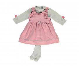 бебешки комплект рокля, блуза и чорапогащник So Sweety, марка Bebetto, фабр.№ K2696, момиче, 6-24 м.